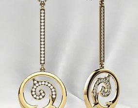 3D printable model Fashion Gold Earrings