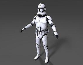 Clone Trooper Phase 2 Shiny 3D asset