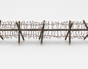 blender 3D model Barb Wire Obstacle