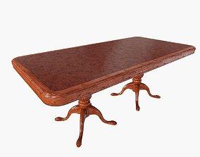 Mahogany Dining Table 3D