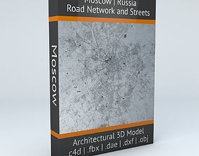 Moscow Road Network and Streets 3D model