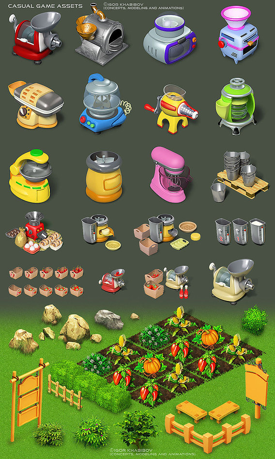 Casual game assets