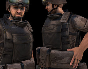 Animated Soldier 3D asset