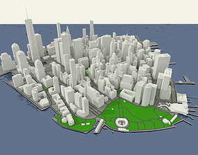 NYC Lower Manhattan Financial District 3D model