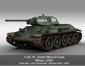 T-34-76 - Model 1941 -Soviet medium tank - 109TD