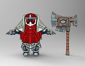 Dwarf fighter 3D model