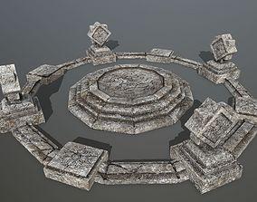 temple 4 3D asset