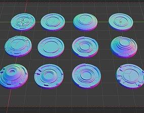 3D mech HUDS KITBASH Low-poly 3D model realtime