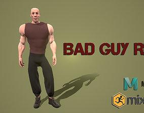 3D model low poly bad guy rig