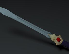 Talon Sword 3D asset game-ready