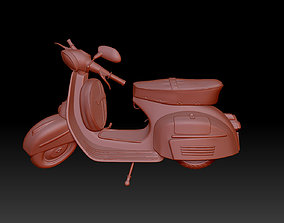 cycle 3D printable model moped