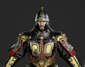 Ancient Chinese Bright armor Generals of Tang 3D asset 1
