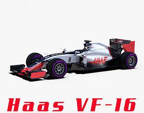 Haas VF16 car 3D asset