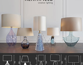 HeathfieldandCo Table lamps design modern blue 3D model