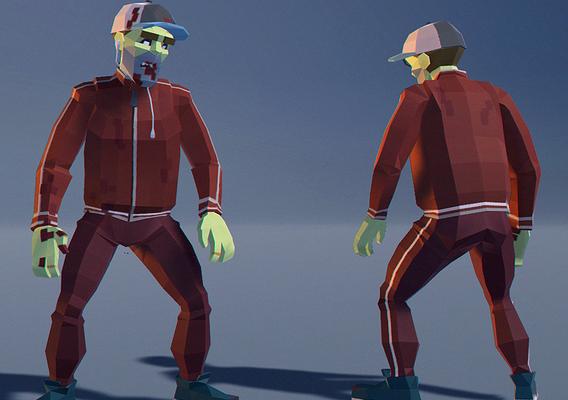 Polygonal Zombie 02