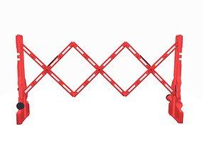 3D model Portable sliding plastic barrier