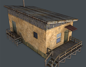 3D model game-ready Old House
