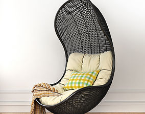 3D plaid hanging chair