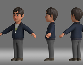 man people father animation role 3D