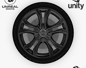 3D asset Wheel Steel-Chrome Dark Alloy Rim Audi 19 inch 2