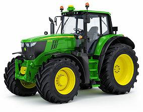 3D Farm Tractor John Deere 6195M