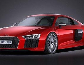 3D asset HQ LowPoly Audi R8 V10 Plus 2016