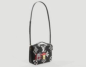Louis Vuitton Crafty Pochette Metis Bag Black 3D
