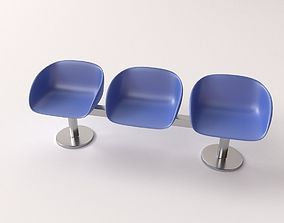 3D model Waiting Room Benches