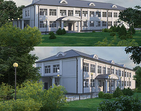 3D model Classical public building