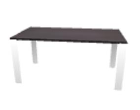 Black desk 3D