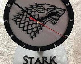 House Stark office Clock 3D printable model
