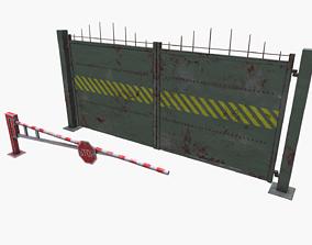 Metal gates 3D model