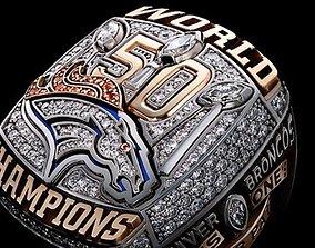 Denver Broncos Super Bowl Ring 3D printable model