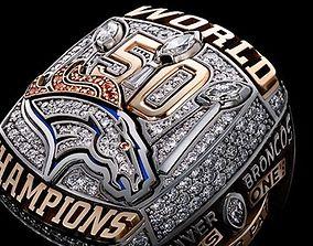 Denver Broncos Super Bowl Ring 3D print model