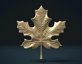 3D printable model leaves Maple Leaf