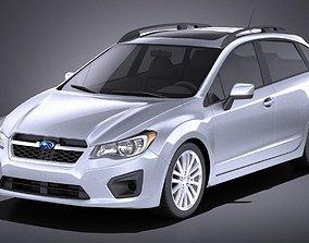 Subaru Impreza 2013 5-door VRAY 3D model