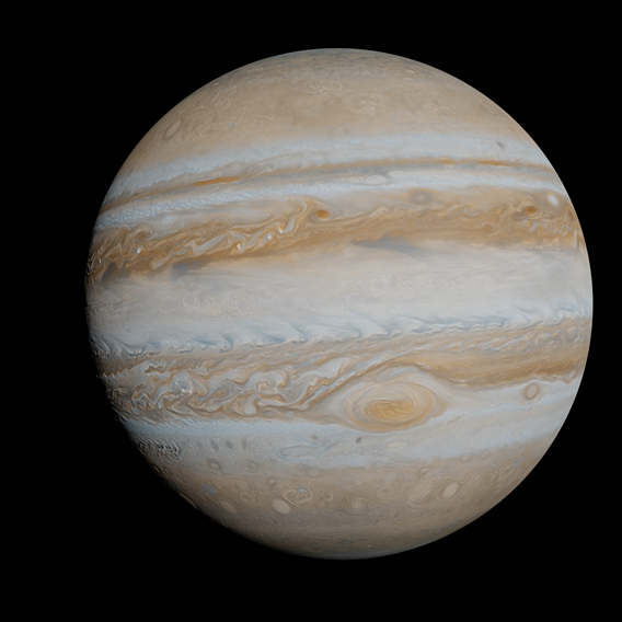 Realistic Jupiter with high quality textures