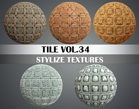 Stylized Wood Tiles Vol 34 - Hand Painted 3D model