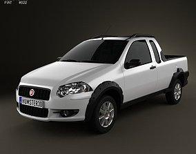 Fiat Strada Crew Cab Trekking 2012 3D