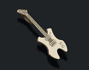 3D print model electric guitar pendant