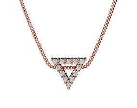 Triangle Pendant Minimalism D15mm Gem 2mm 3D print model