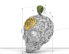 3D print model Skull ornamental pendant