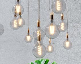 4 models of decorative light bulbs electric