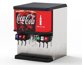 3D 6 Flavor Ice and Beverage Soda Fountain System