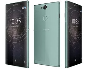 Sony Xperia XA2 Plus Green 3D model