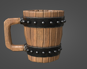 Wooden Cup 3D model low-poly