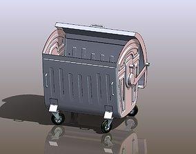 3D model trash 1100 l