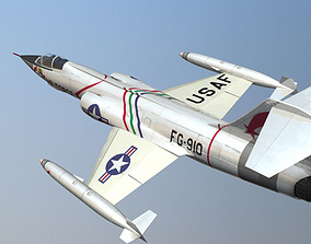 3D F-104 Starfighter Military Fighter