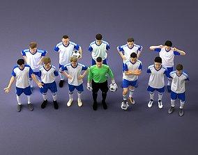 Football team 3D model