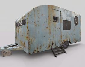 Old Rustic Trailer 3D